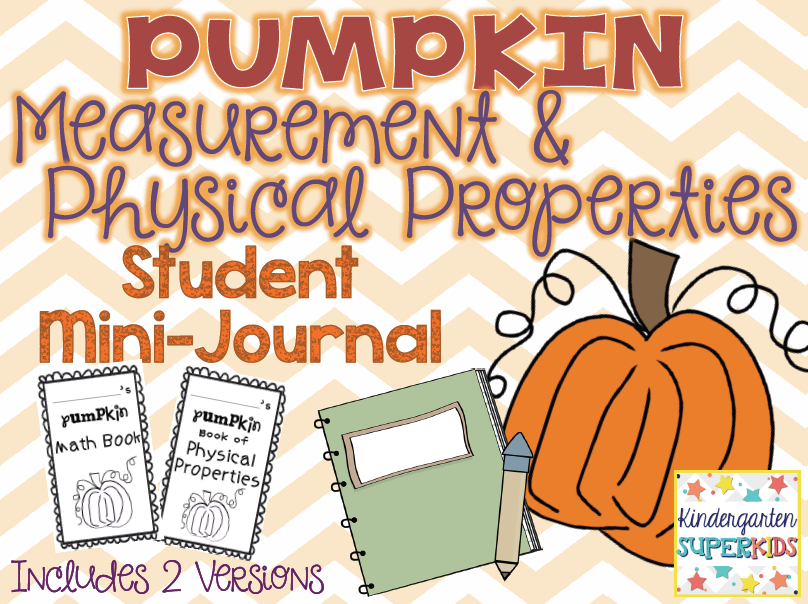 http://www.teacherspayteachers.com/Product/Pumpkin-Measurement-Physical-Properties-Student-Mini-Journal-392494