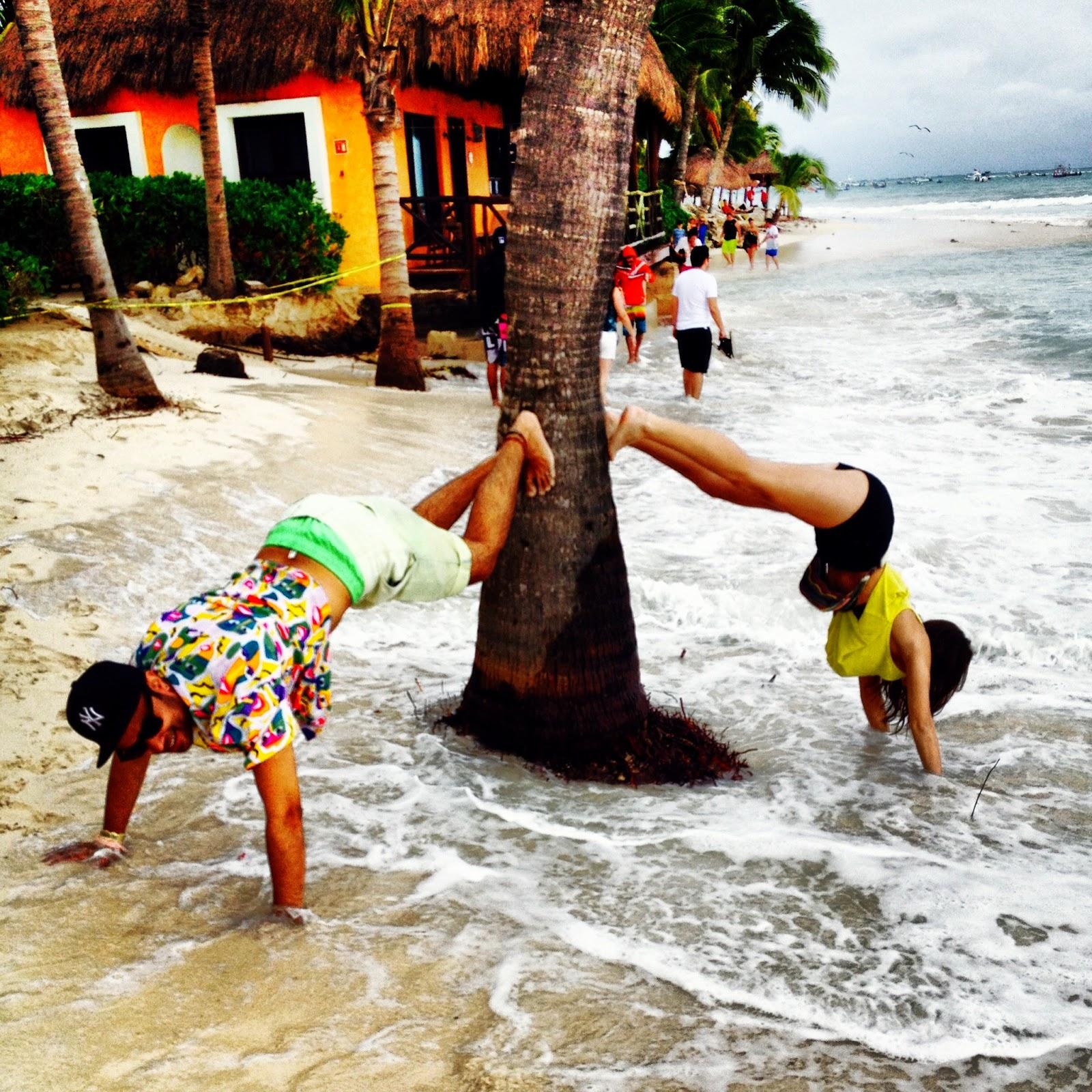 trini palm trees tulum ocean bpm festival stereo night club friends playa del carmen mexico travel more