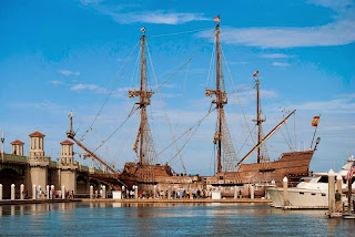 Two 16th Century Replica Ships to Dock in St. Augustine 3  el+galeon1 St. Francis Inn St. Augustine Bed and Breakfast