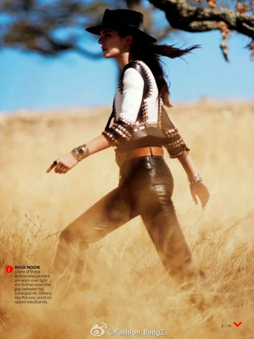 Kendall Jenner poses for a solo shoot for Vogue US January 2015