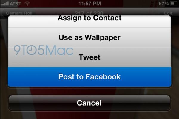 Mockup - Integração do Facebook no iOS 6
