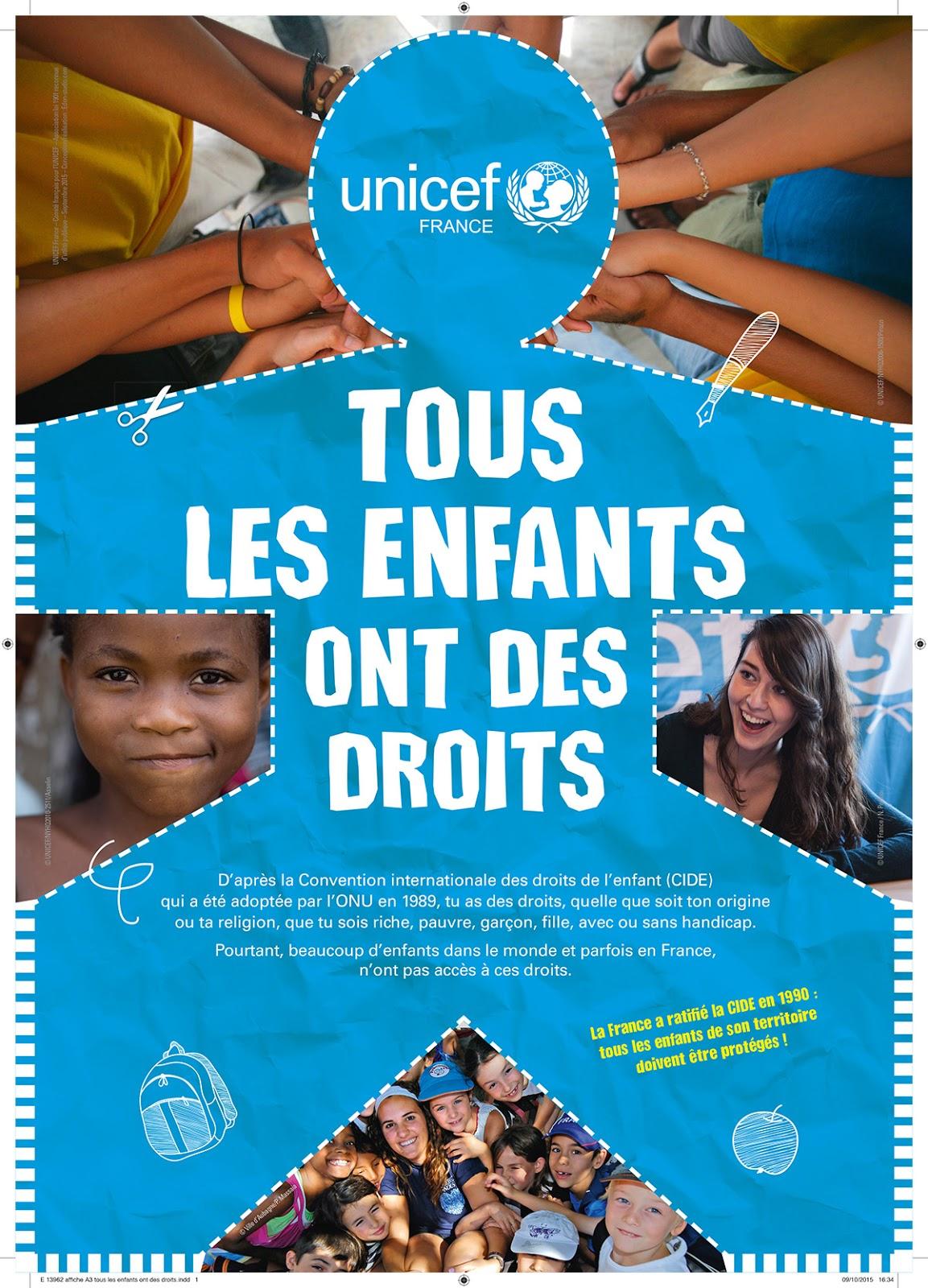 Fabuleux Comité de l'Isère pour l'UNICEF: Journée Internationale des Droits  OU49
