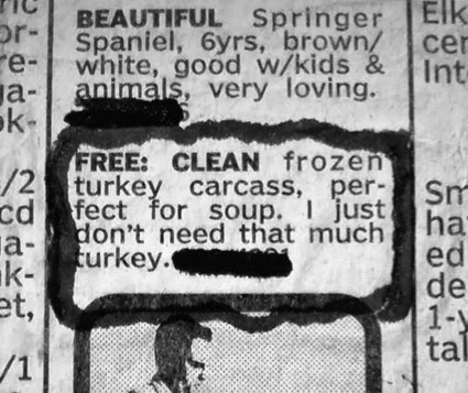 Free Turkey Carcass