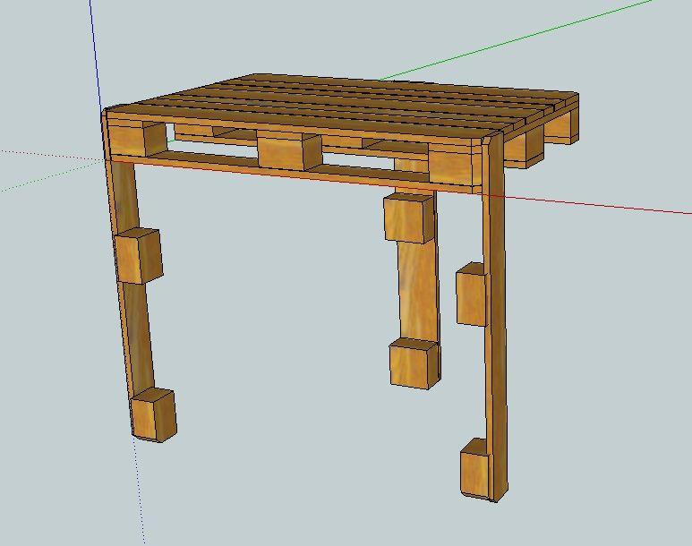 Hacer una mesa de trabajo para tu for Mesa plegable trabajo