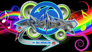 3D Graffiti Music Full Color Wallpaper