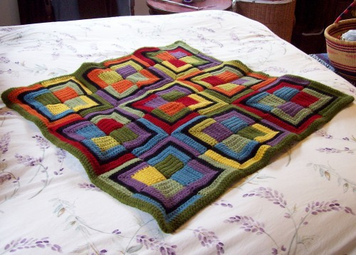 Patchwork Squares Throw - Free Pattern