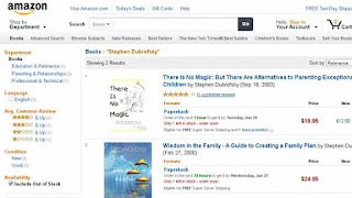 Screenshot: Amazon.com Author Stephen Dubrofsky