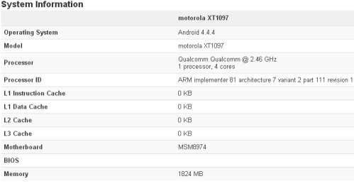 GeekBench svela alcune specifiche hardware del Motorola Moto X+1
