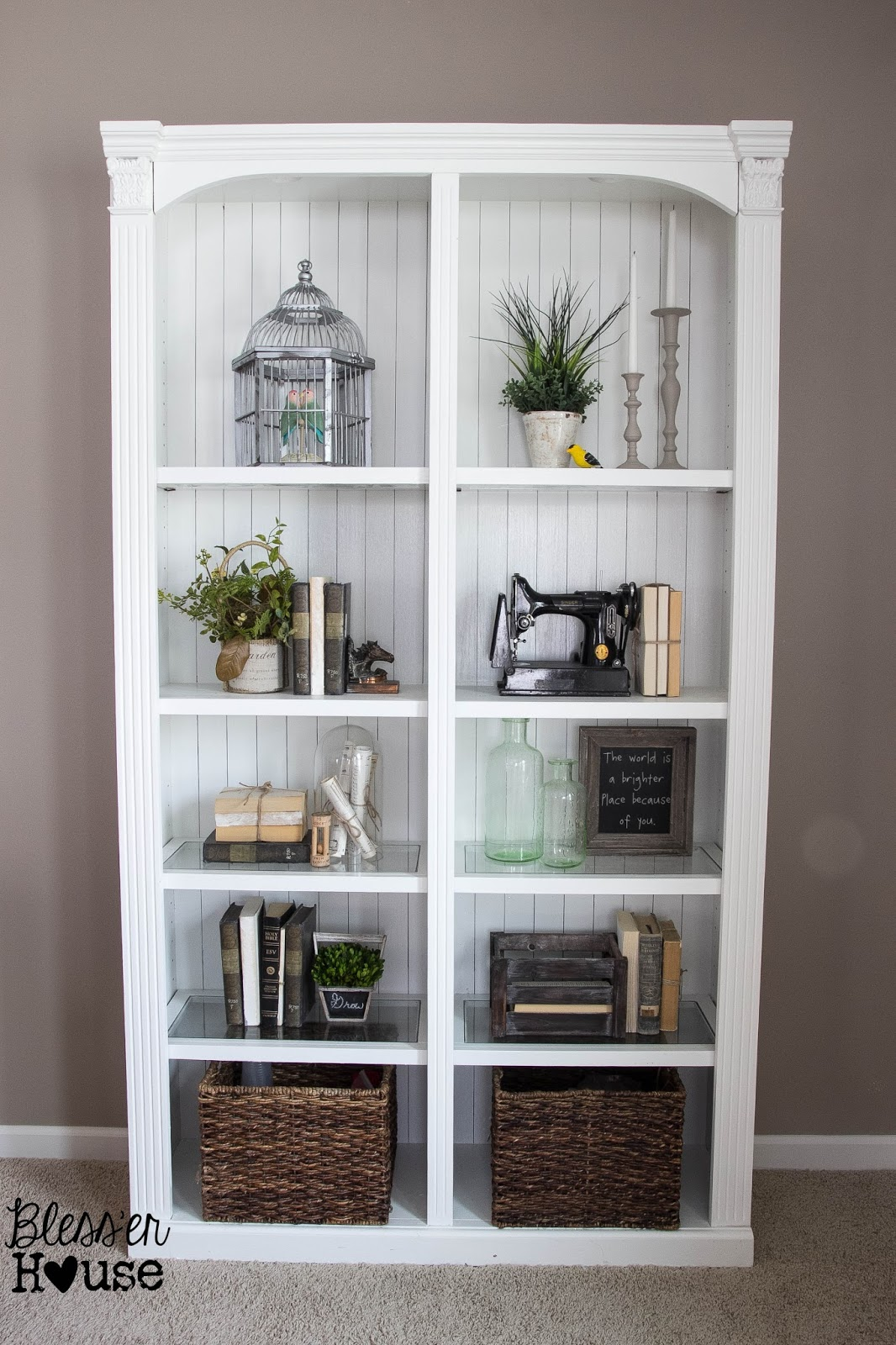 Bless'er House   Styling a Bookcase - Less is more.