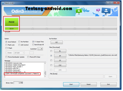 How To Install CWM Galaxy V Via Odin