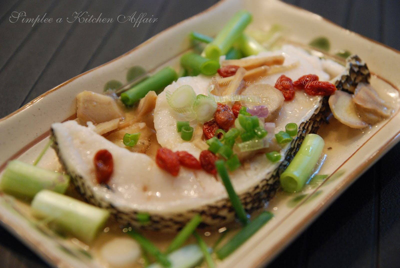 Steam Cod Fish with Ginger & Scallion