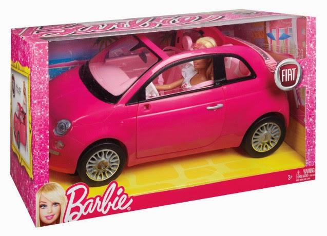 JUGUETES - BARBIE  Barbie y su Fiat | Muñeca + coche  Producto Oficial | Mattel Y6857 | A partir de 3 años