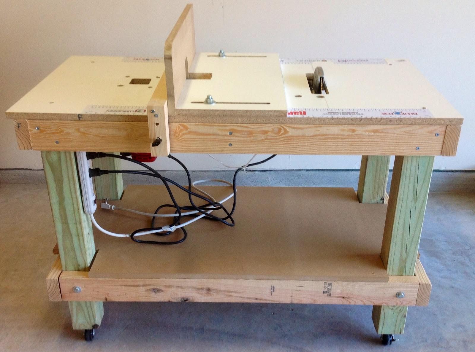 Thinking Wood: Project 2 - DIY Portable 3-in-1 Workbench / Table ...