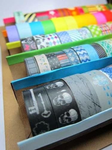Enpapel arte c mo almacenar tus washi tape - Como almacenar perchas ...