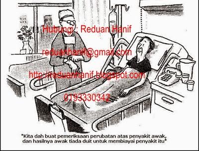 Kalau masuk hospital, apakah masalah paling besar selain sakit?