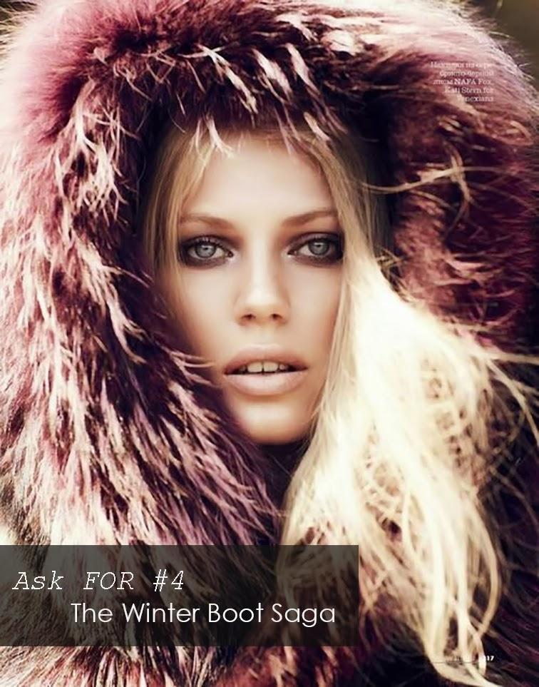 Ask FOR Fur hood golden glow blonde winter boot saga