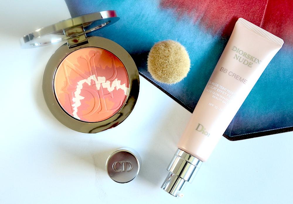 dior diorskin nude bb crème 025 blush tie dye 002 coral sunset avis test swatch
