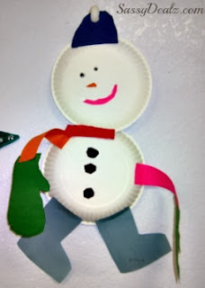 paper plate snowmen craft for kids