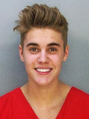 justin bieber arrest mugshot