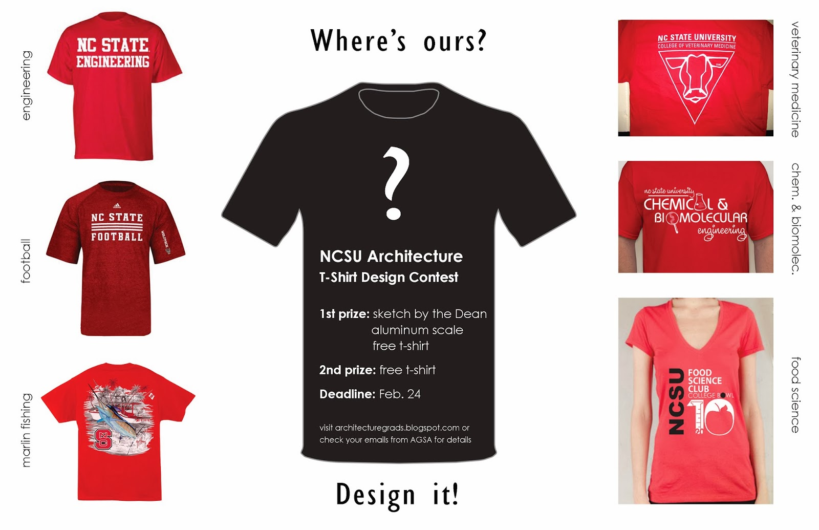 Ncsu architecture graduate student association february for Architecture student t shirts