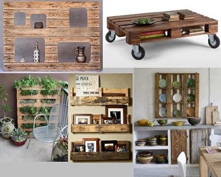 Ideas para reciclar palets muebles y for Herrajes y accesorios para muebles