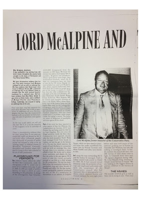 Scallywag - Original Lord McAlpine Paedophile Ring Article