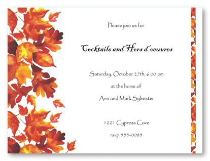 autumn vanilla picture autumn themed wedding invitations, Wedding invitations