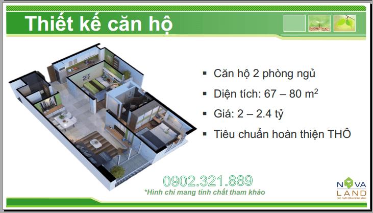 mat bang can ho 2 phong ngu tropic garden