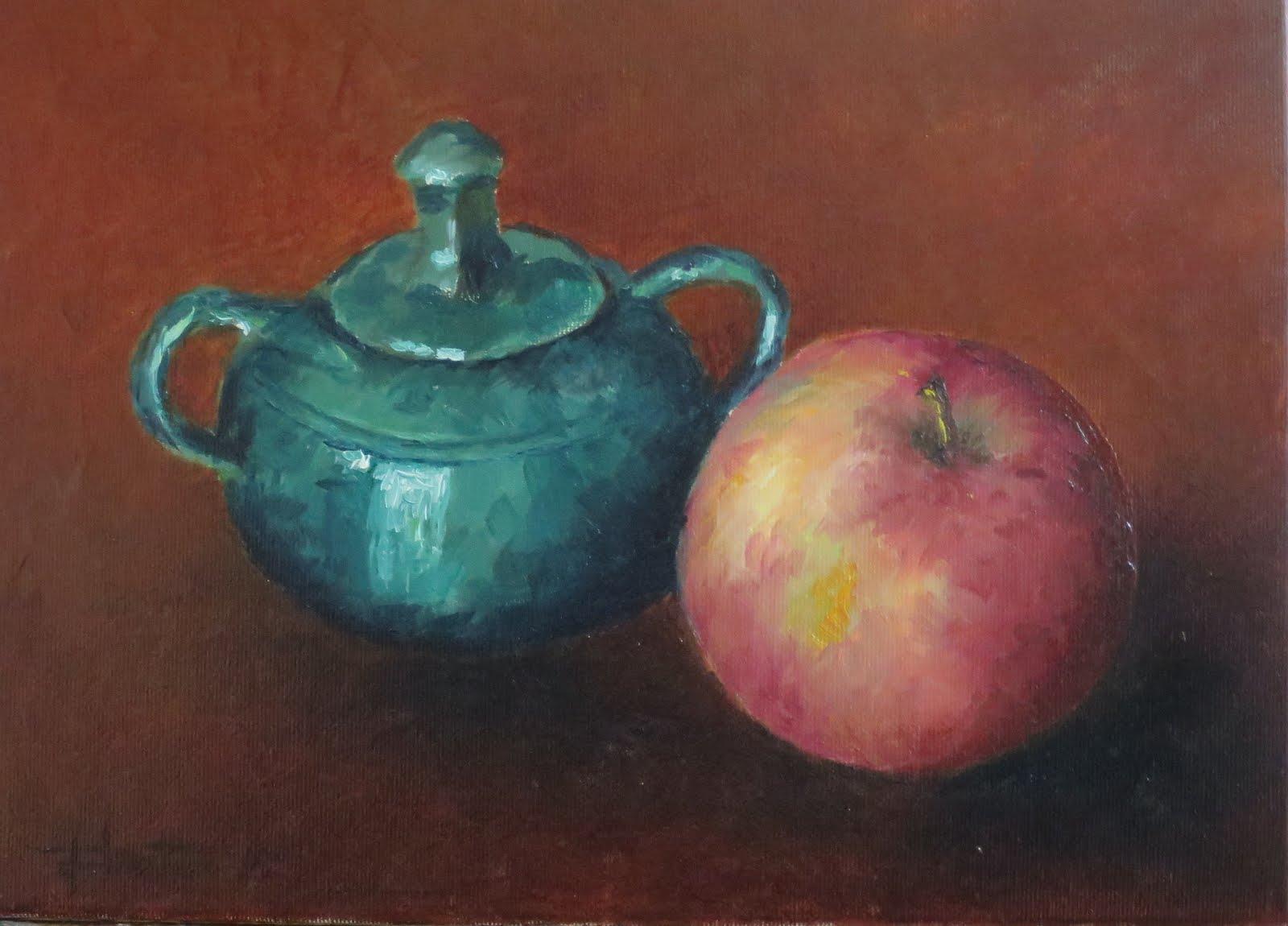 Azucarero de Úbeda y manzana (4F)