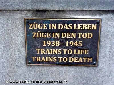 friedrichstrasse, bahnhof, Züge in das Leben, Züge in den Tod, denkmal