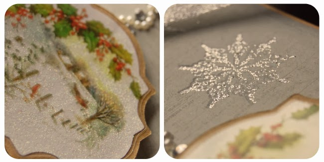 Glittery Winter Tag by Tammy at Not Just Paper and Glue