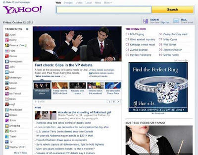 Old Yahoo Homepage