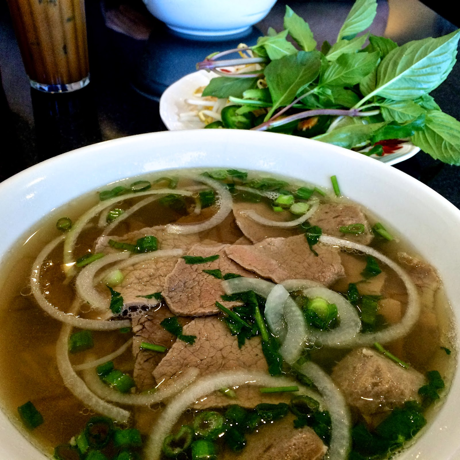 Little Saigon's Combination Pho: Beef Eye Round, Brisket, and Beef Meatball $8.95