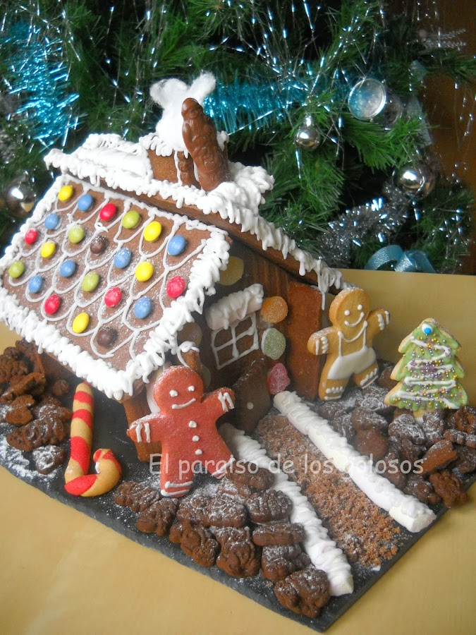 Molde de casita de navidad - Casitas de navidad ...