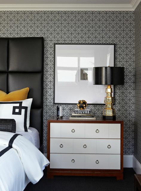 Black Gold White Bedroom