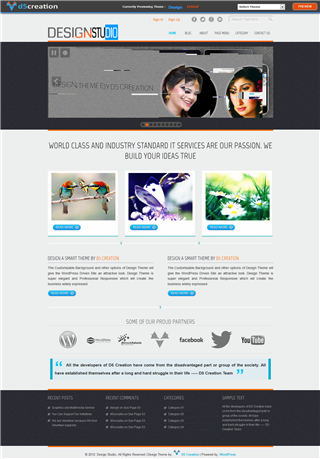 Free Wp Theme Responsive Design Studio