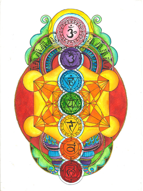 Chakras with Metatron Cube by NW Sacred Art