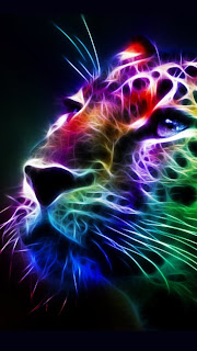 Multi-color Leopard iPhone 5 free background