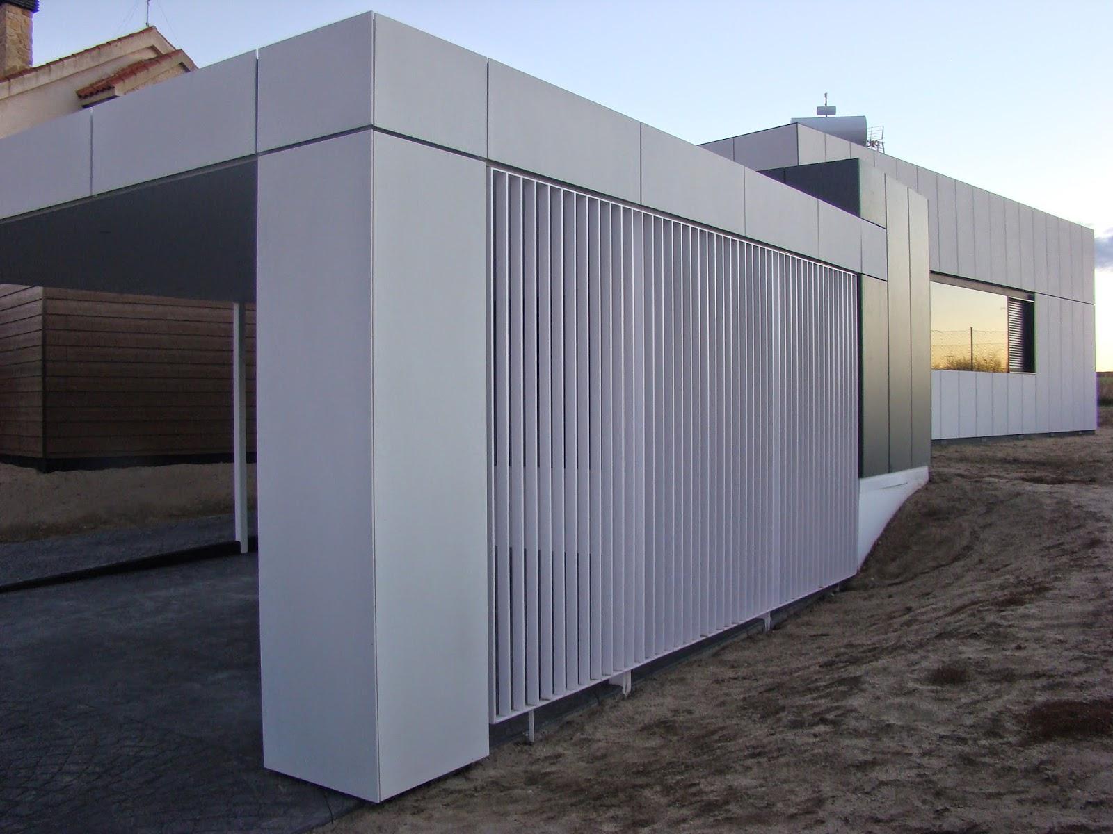 Garaje modular abierto de Resan, vista lateral