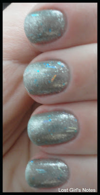 nabi new blue glitter nail polish
