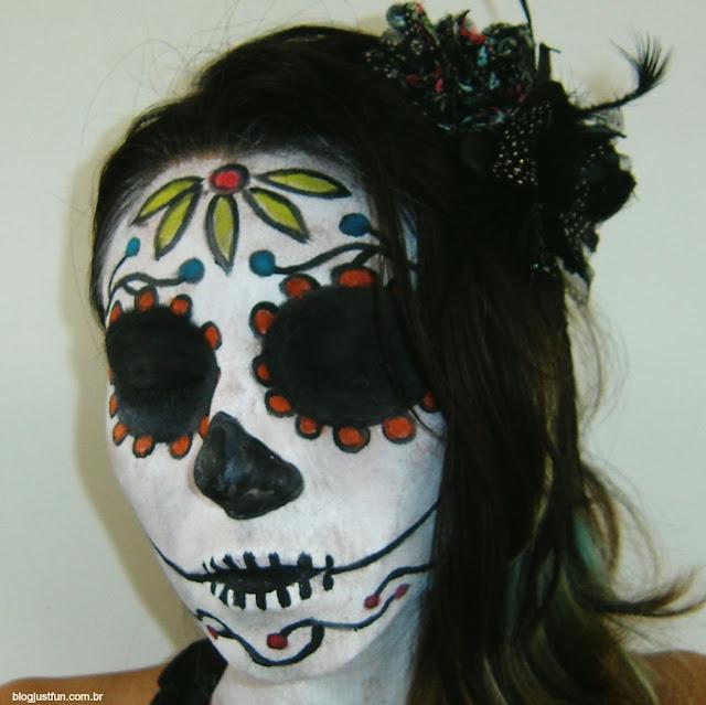 Tutorial de Halloween: Dia de los muertos!   Just Fun