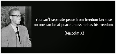 Malcolm X Freedom and Peace