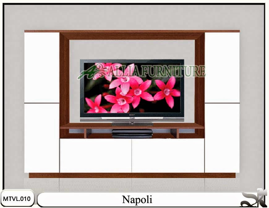 Lemari tv lcd minimalis model napoli