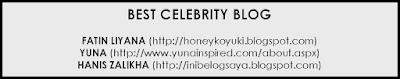 best blog, yuna, fatin liyana, hanis zalikha