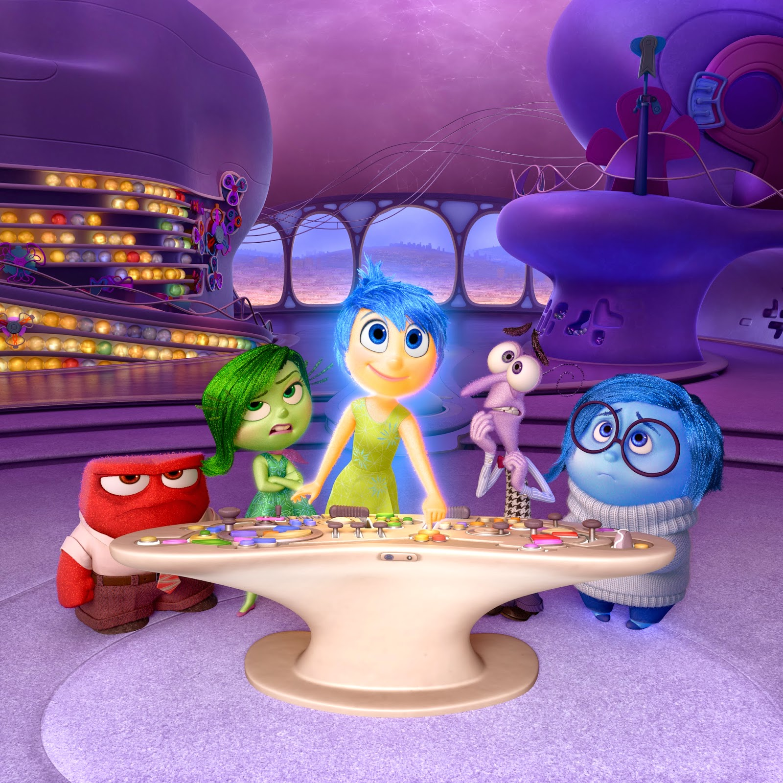 disney pixar inside out film joy disgust anger fear sadness 2015
