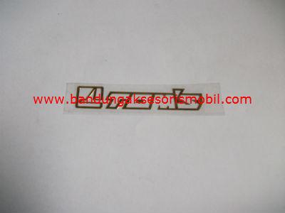 Emblem Alumunium Kecil Gold Toms