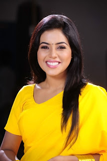 Poorna New Pictures in Yellow saree 006.jpg