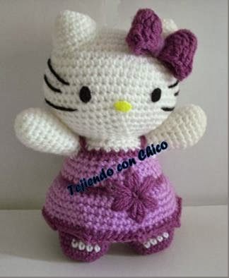 Amigurumi Kitty Anleitung : Tejiendo con Chico: Hello Kitty 2