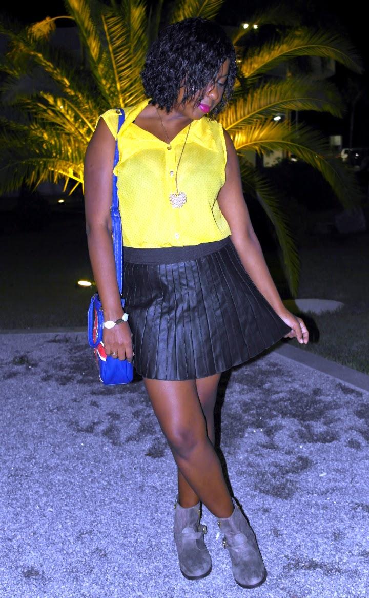 look-do-dio-blusa-amarela-saia-plissada-bota-bolsa-azul-spike-amante-forever-21-dakota-5