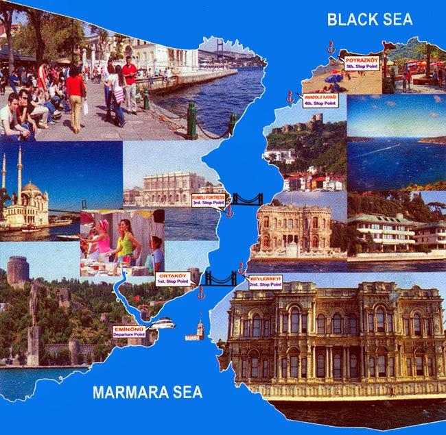 تعرف علي رحلة البوسفور البحرية في اسطنبول